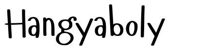 Hangyaboly písmo