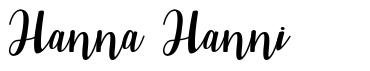 Hanna Hanni
