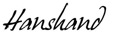 Hanshand font