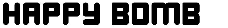 Happy Bomb шрифт