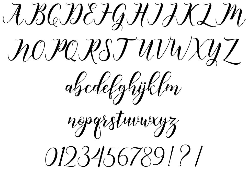 Happy Christmas font