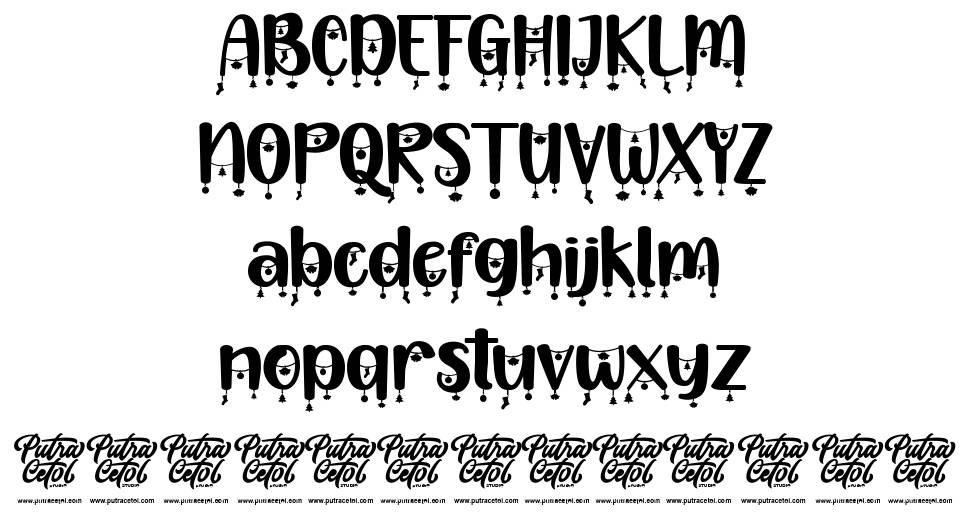 Happy Christmas Party font