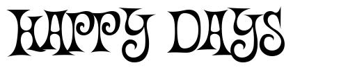 Happy Days font