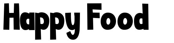 Happy Food font