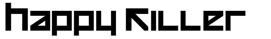 Happy Killer font
