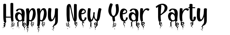 Happy New Year Party font
