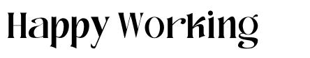 Happy Working font