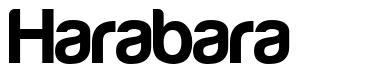 Harabara font