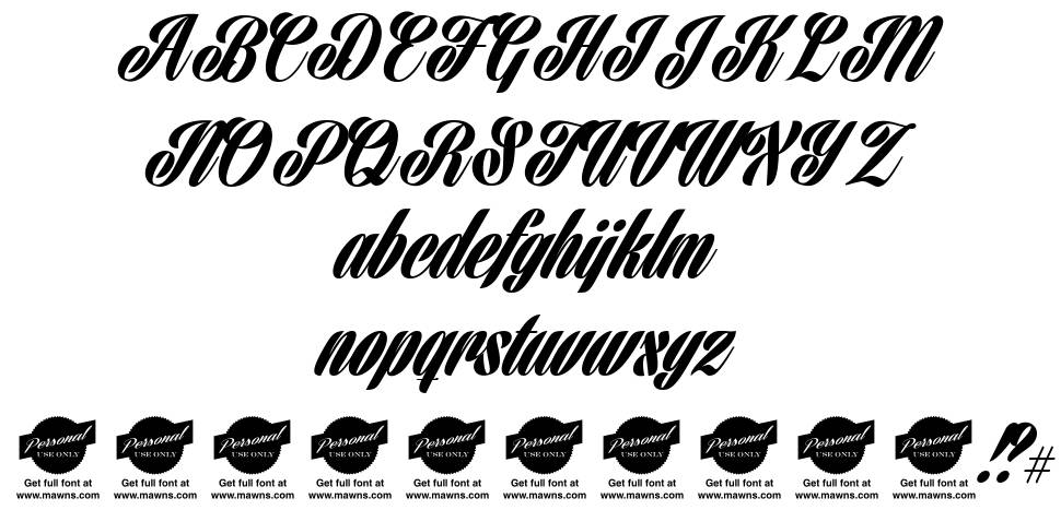 Harbell font