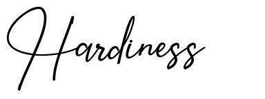 Hardiness font