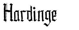 Hardinge font