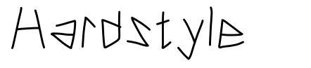 Hardstyle font