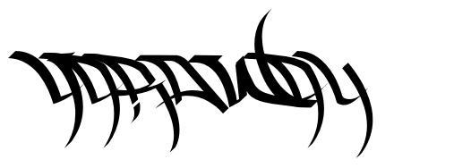 HardWay font