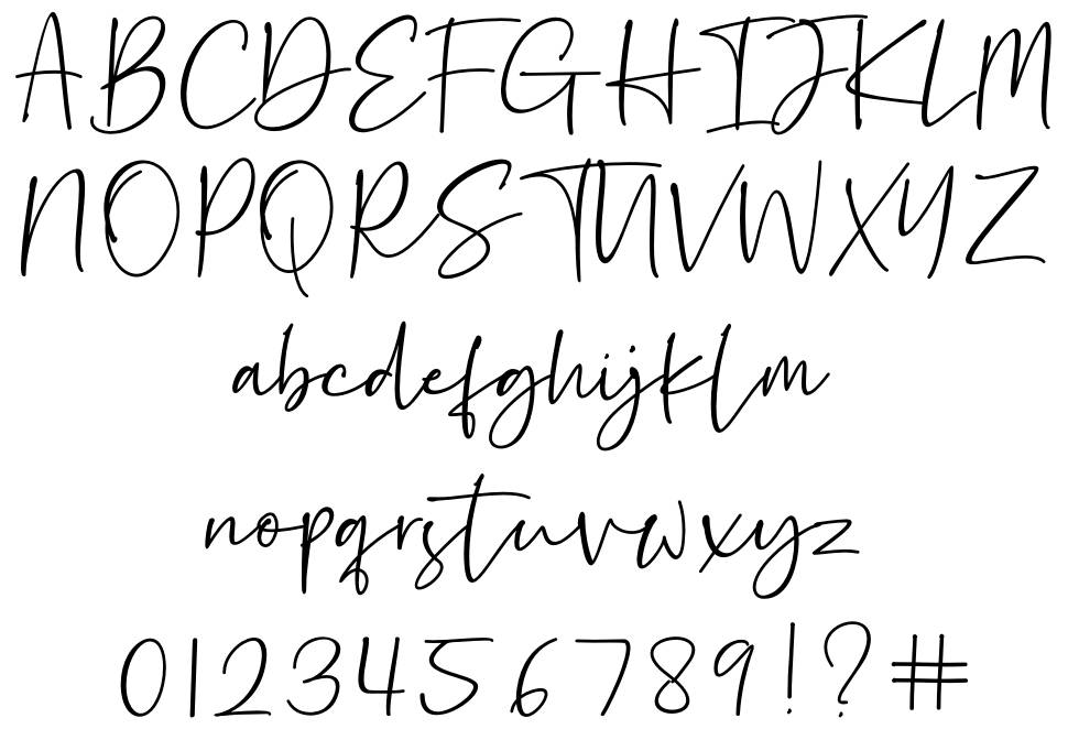 Hastage font