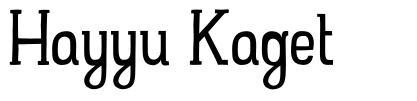 Hayyu Kaget
