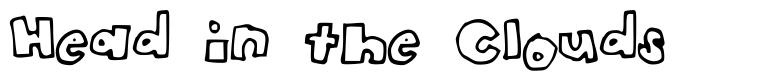 Head in the Clouds font