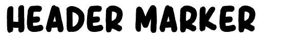 Header Marker písmo