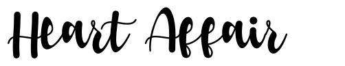 Heart Affair フォント