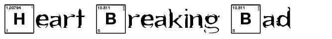 Heart Breaking Bad 字形