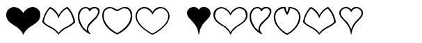 Heart Shapes font