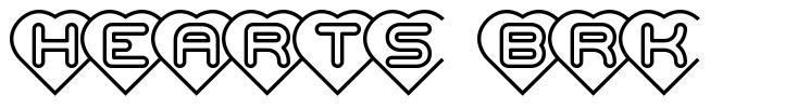 Hearts BRK फॉन्ट