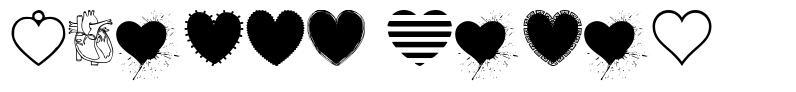 Hearts Salad font