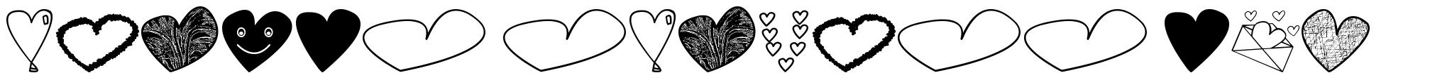 Hearts Shapess TFB フォント