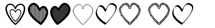Hearts ST font