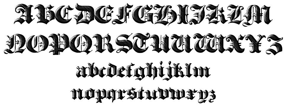 Heavy Gothik 字形