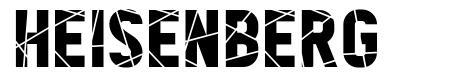 Heisenberg font