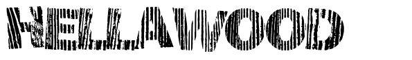 Hellawood  font