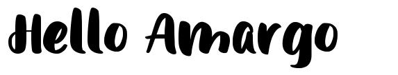 Hello Amargo フォント