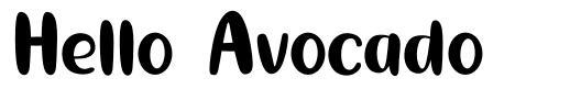 Hello Avocado font