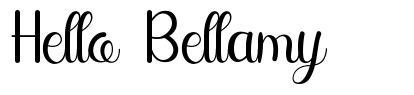 Hello Bellamy font