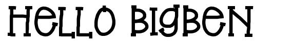 Hello BigBen font