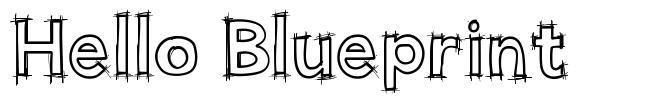 Hello Blueprint font