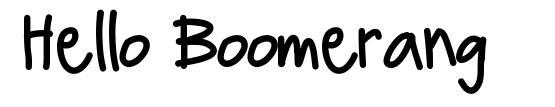 Hello Boomerang