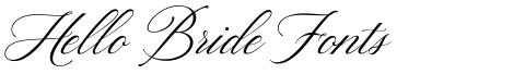 Hello Bride Fonts