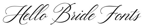 Hello Bride Fonts