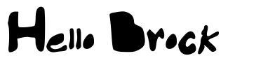 Hello Brock font