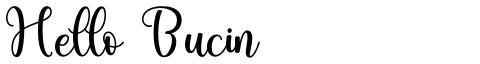 Hello Bucin