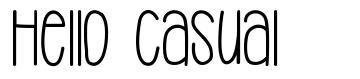 Hello Casual font