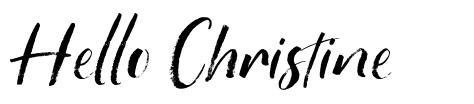 Hello Christine