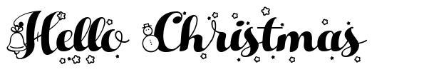 Hello Christmas 字形