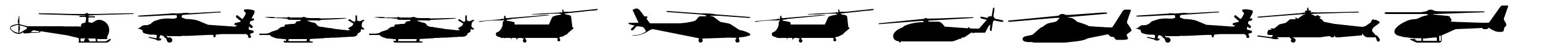 Hello Copters font