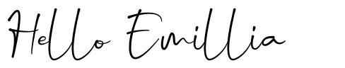 Hello Emillia font
