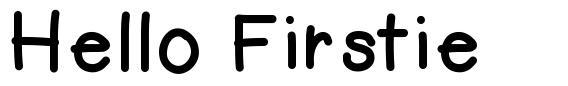 Hello Firstie font