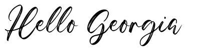 Hello Georgia font