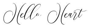 Hello Heart フォント