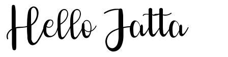Hello Jatta फॉन्ट